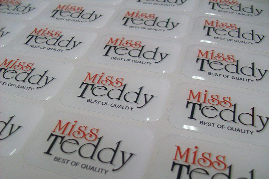 Обемни стикери - Мис Теди