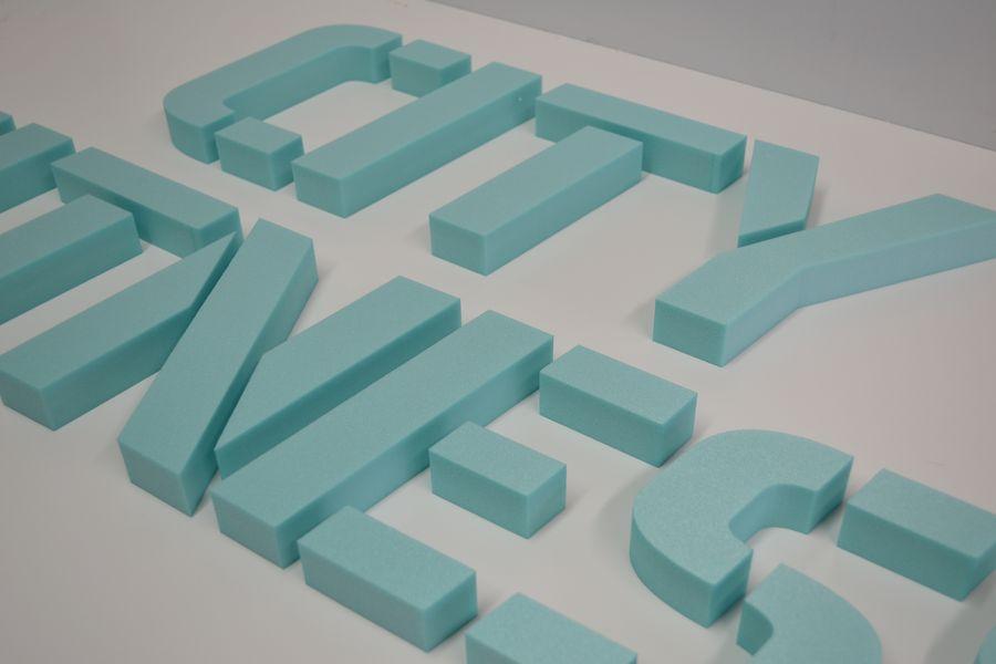 Обемни букви от фибран